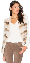 Heartloom Sullivan Rabbit & Asiatic Raccoon Fur Vest