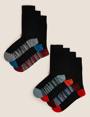 Marks and Spencer 7 Pack Cool & Fresh Striped Sole Socks
