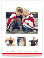 Minted Modern Candy Stripes Christmas Photo Cards