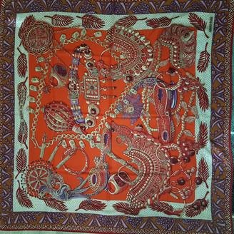 Hermes Chale 140 Burgundy Cashmere Scarves