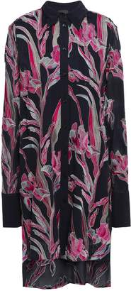 Just Cavalli Embroidered Crepe Mini Shirt Dress