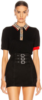 Burberry Penk Polo Top in Black | FWRD