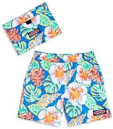 Vineyard Vines Boys' Island Leaves Swim Shorts & Pouch - Sizes S-XL