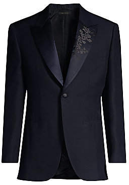 Brioni Men's Floral Lapel Silk Dinner Jacket