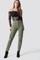 NA-KD Pamela X High Waist Slim Army Pants