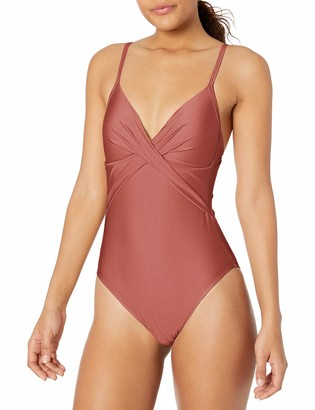 Kenneth Cole New York Women's Over The Shoulder Push Up Mio One Piece Swimsuit