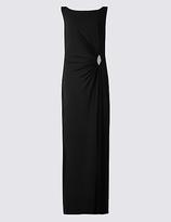 M&S Collection Jewelled Drape Waist Tie Back Maxi Dress