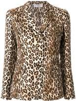Alberto Biani leopard print fitted blazer