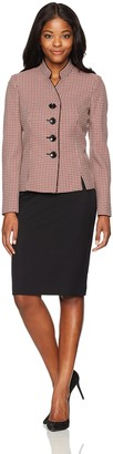 Le Suit LeSuit Women's Tweed 4 Button Inverted Notch Collar Skirt