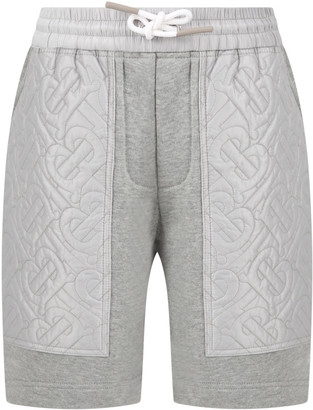 Burberry Grey Short For Kids With Logos
