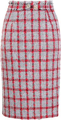 Loulou Knitted Check Skirt