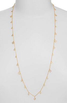 Nordstrom Cubic Zirconia Shaky Charm Necklace