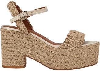 Castaner Xesqui Braided Rattan Platform Sandals
