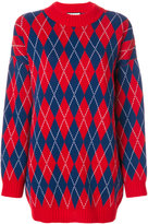 Gucci argyle knitted dress