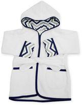 T.L.Care TL Care Organic Newborn Robe in Navy Zigzag