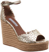 Tabitha Simmons Harp Metallic Leather Espadrille Wedge Sandal