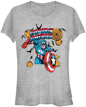Fifth Sun Women's Tee Shirts ATH - Captain America Athletic Heather Pumpkins Tee - Women & Juniors