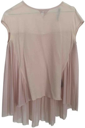 Karl Lagerfeld Paris Pink Silk Top for Women