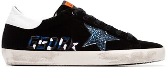 Golden Goose Superstar Velvet and Leather Sneakers