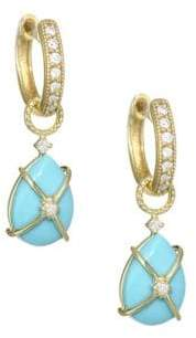 Jude Frances Diamond, Turquoise& 18K Yellow Gold Earring Charms
