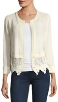 Nic+Zoe Island Party Lace-Trim Cardigan