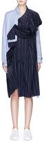 Enfold Drape sleeve panel deconstructed stripe poplin trench dress