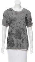 IRO Distressed Short Sleeve Sweatshirts
