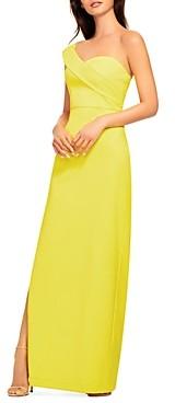 Aidan Mattox One-Shoulder Evening Gown