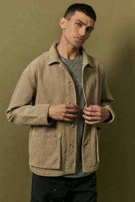 BDG Stone Corduroy Chore Jacket - Beige S at Urban Outfitters