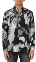 Saint Laurent Men's Grey/black Cotton Shirt.