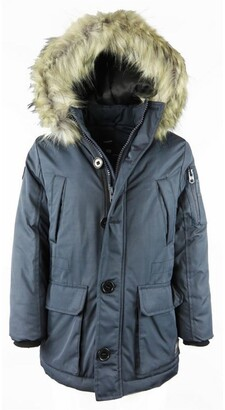 Redskins Parka with Faux Fur Trim Hood, 10-16 Years