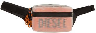 Diesel Transparent and Orange Faroh Belt Bag
