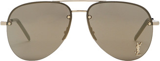 Saint Laurent Monogram Aviator Sunglasses