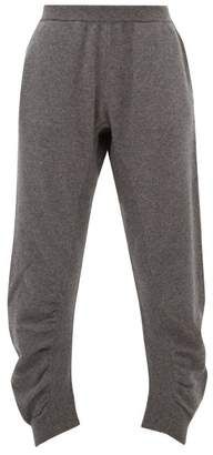 Stella McCartney Ruched Wool Trousers - Womens - Grey