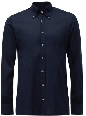 Thom Sweeney - Button-down Collar Cotton Shirt - Mens - Navy