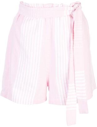 Lemlem Rekik tie belt shorts