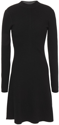 Theory Ribbed Merino Wool-blend Mini Dress