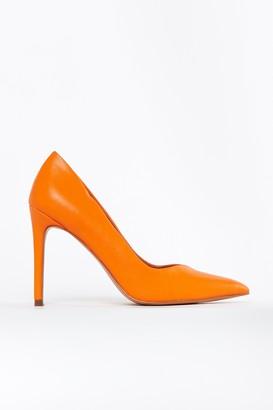 Wallis **Orange Point High Heel Shoe