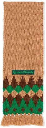 Gucci Kids Patterned Wool Scarf