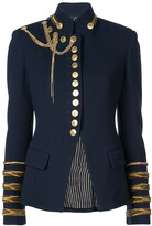 Oscar de la Renta Embroidered Military Jacket