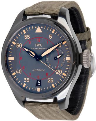 IWC Black Ceramic/Titanium Nylon Big Pilot Top Gun IW501902 Men's Wristwatch 48MM