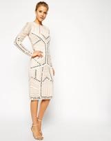 Asos Mirror And Bead Body-Conscious Dress
