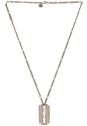 Balenciaga Punk Blade Necklace in Antique Silver | FWRD