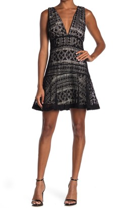 Adelyn Rae Lexi Fit & Flare Lace Dress