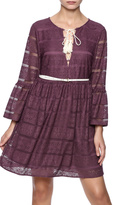 Entro Lace Purple Dress