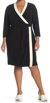 Anne Klein Colorblock City Wrap Dress