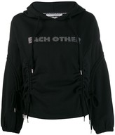 Each X Other logo embellished hoodie with drawstring detailing