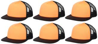 Clementine Apparel Men's CLM-SM-DT624-Flat Bill Snapback Trucker Cap (6 PK)