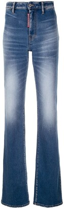 DSQUARED2 Flared Faded Jeans