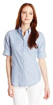 Dockers Women's Petite Short Sleeve Oxford Shirt